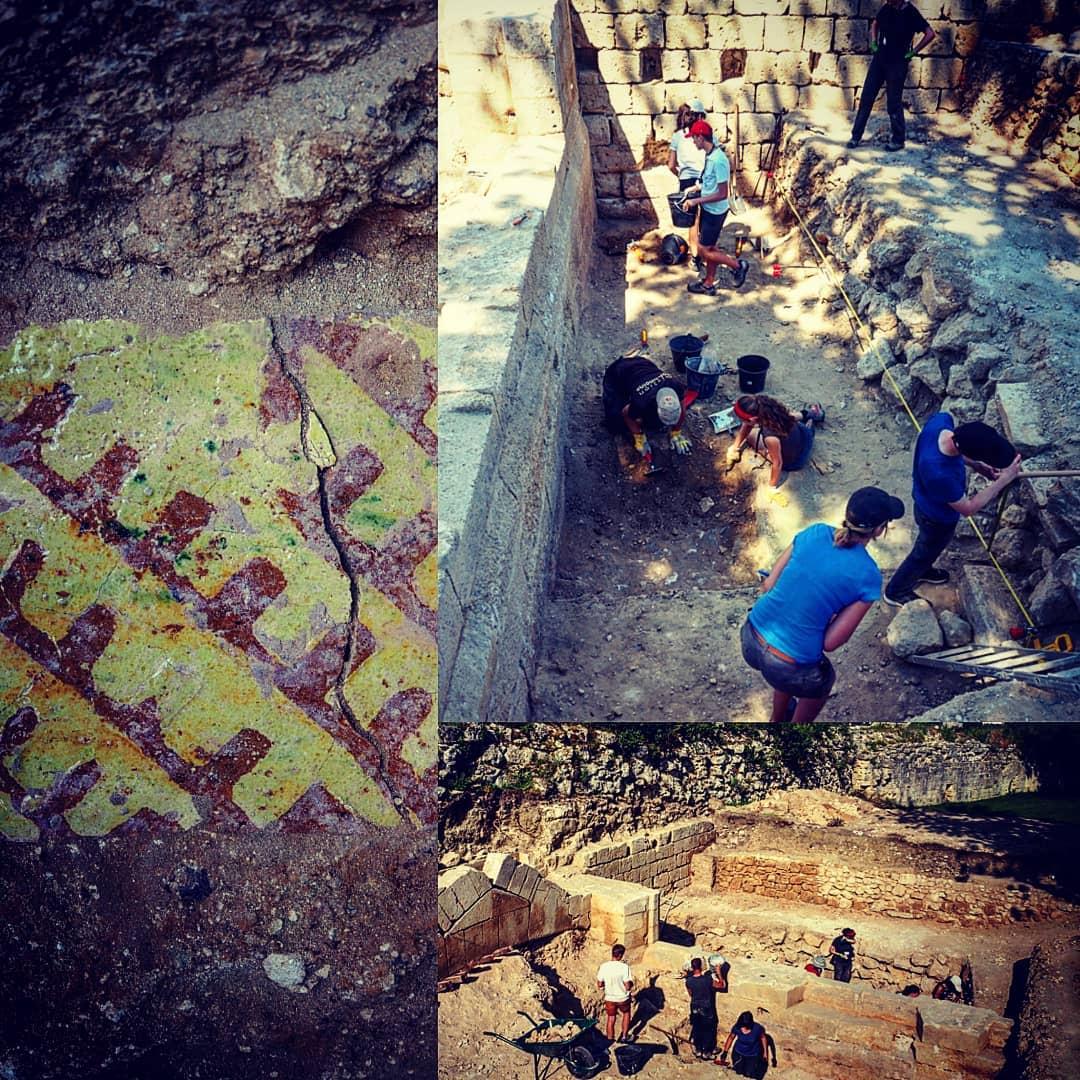 Montage Photos des fouilles archéologique dans le chateau de Coucy